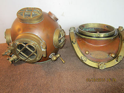 VINTAGE FACSIMILE W.W.2 MARK V DIVING HELMET