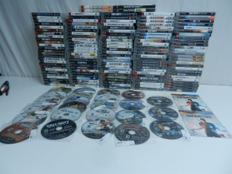 Lot of 164 Playstation 3 PS3 Games- Ace Combat, Black Ops 2, Advanced Warfare