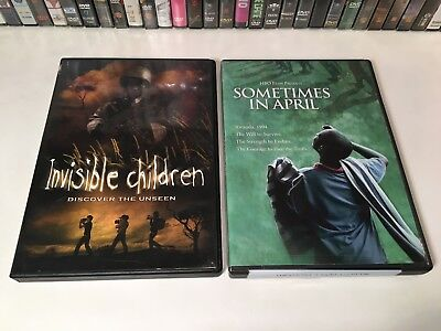 Africa War Documentary DVD Lot of 2 Sometimes In April & Invisible Children