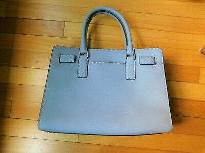 Michael Kors Large Crossbody Satchel Handbag Pearl Gray