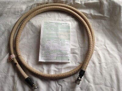 Flexible hydraulic pipe.