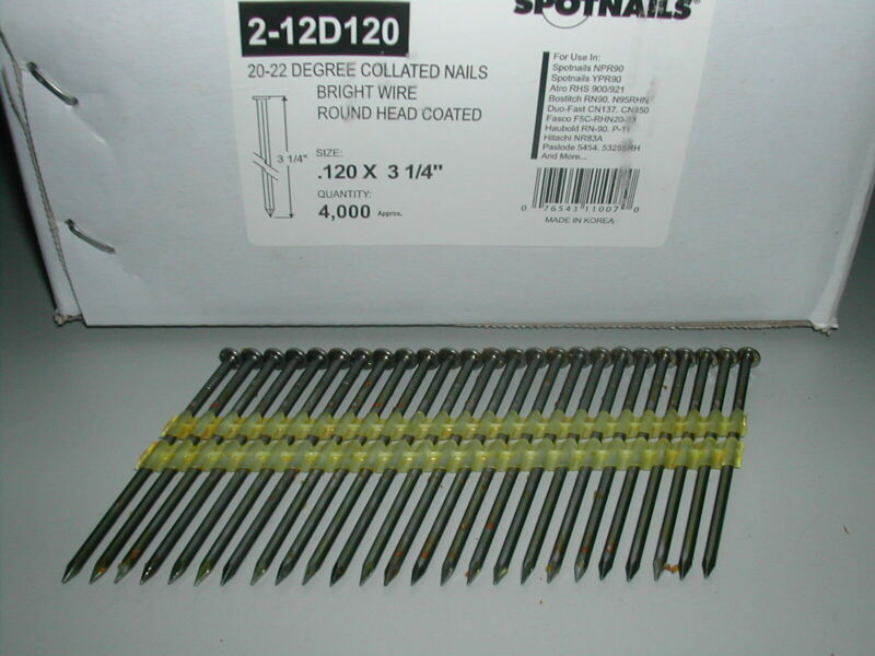 "3 1/4"" 21 Degree Full Round Head Framing Nails (2,000)"