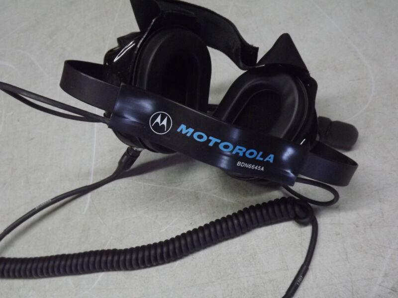 Motorola BDN6645A Noise-Cancelling - Heavy Duty Dual Muff Racing Headset - NEW