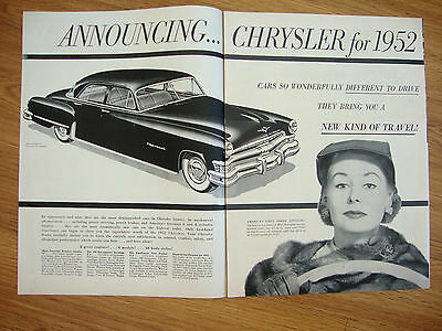 1952 Imperial by Chrysler Ad