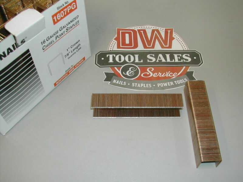 1607pg S2 Crown Roofing Staples 7/8 16 Gauge Galvanized BostitchType (5,000)