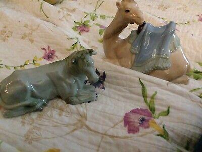 Vintage Christmas Avon nativity Tom O'Brien animals oxen cow camel set Mexico