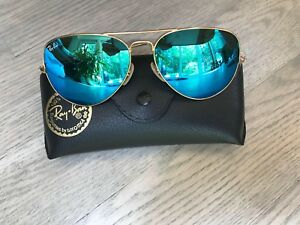 Brand new rayban aviators light baby blue