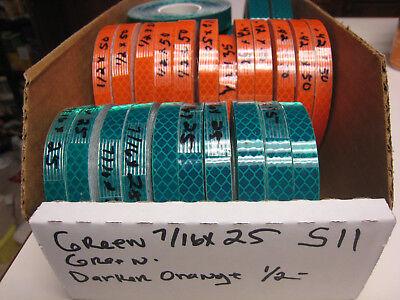 3m Dark Orange Reflective  Conspicuity Tape .463 X 35 Ft