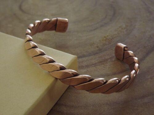 Pure Copper Large Bracelet - Heavy Copper Men Women Arthritis Therapy