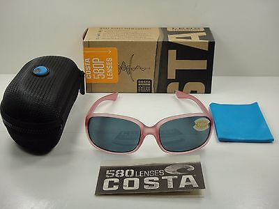 COSTA DEL MAR RIVERTON POLARIZED SUNGLASSES HIBISCUS/GRAY 580P LENS RVT119 OGP