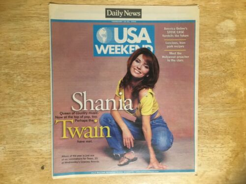 SHANIA TWAIN - L.A. Daily News - USA Weekend Newspaper - February 1999 - RARE