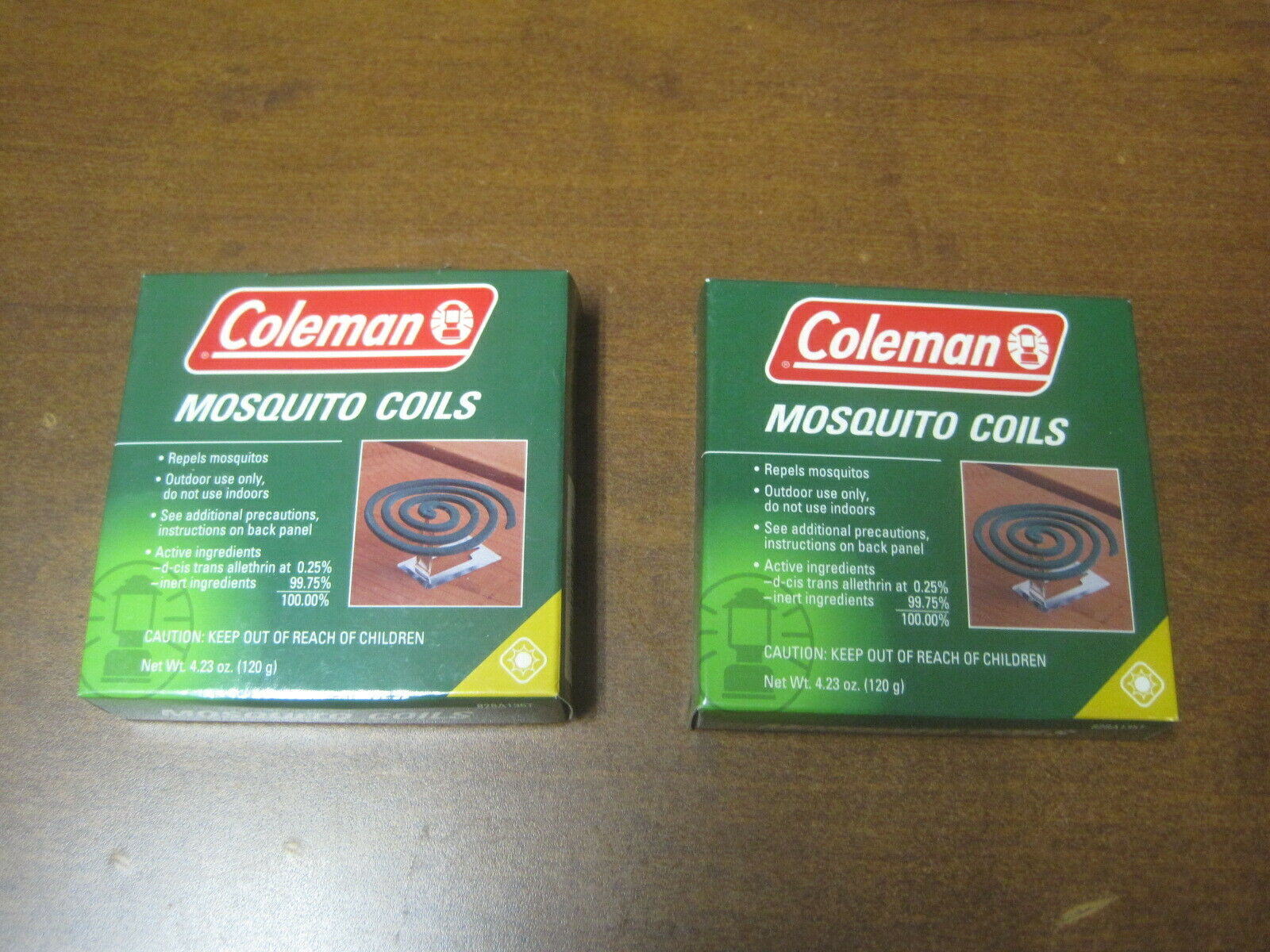 Coleman Mosquito Coils 10 pack with 2 Metal Stands Repellent