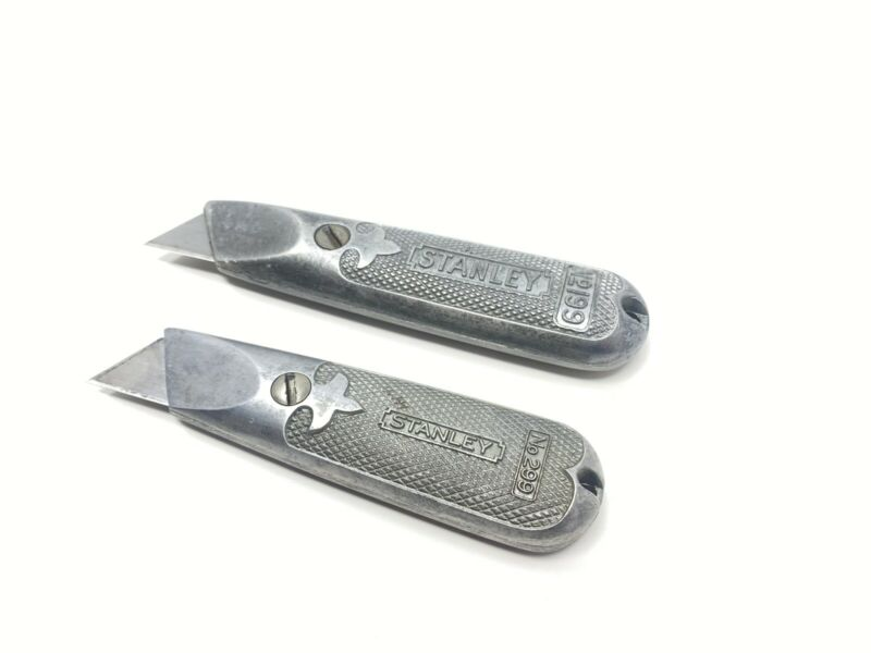 Vintage Stanley No. 299 & No. 199 Box Cutter Knife Lot Of 2 Good Condition!