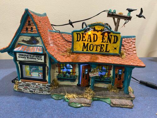 Department 56 Snow Village Halloween Dead End Motel (Read Description)