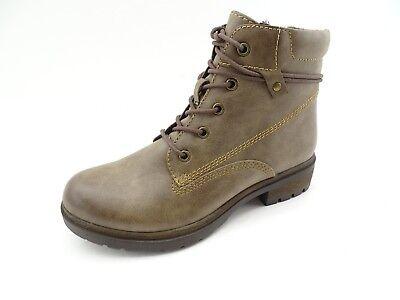 Tamaris Damen Schuhe Combat Boots Stiefeletten braun Gr 37 Schnürboots