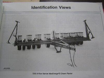 1982 John Deere 7200 Maxemerge 2 Drawn 6-rw 8-rn Planter Operators Manual H6
