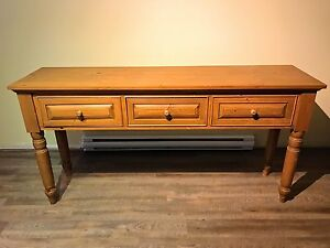 Table console a 3 tiroirs