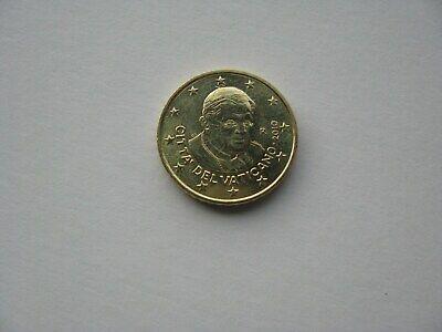 50 cents d'euro Benoît XVI Vatican 2010 R-non circulée.