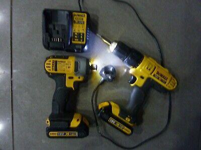 Dewalt 18V XR li-ion DCD776 Drill  DCF885 Impact Driver 2x Batteries DCB181&185
