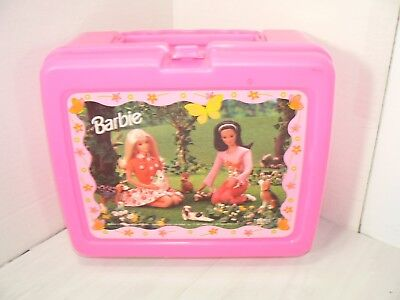 Vintage 1997 Thermos Hot Pink Plastic Barbie & Theresa Best Friends