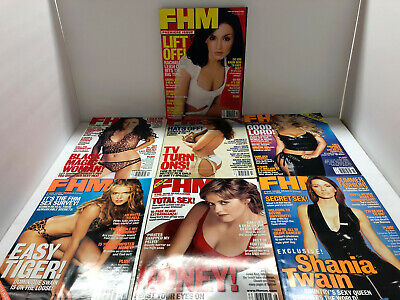 FHM MAGAZINE 1ST 7 ISSUES – #1 thru #7 - ALL of the YEAR 2000 – LIKE NEW