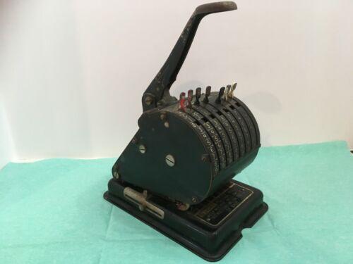 Vintage Hedman Co. F&E Check Writer Embosser Model A