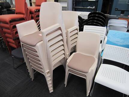 Beige Sebel Integra Stacking Outdoor  Christmas Party Chairs. Outdoor Timber Picnic Tables  5 sizes    Outdoor Dining Furniture