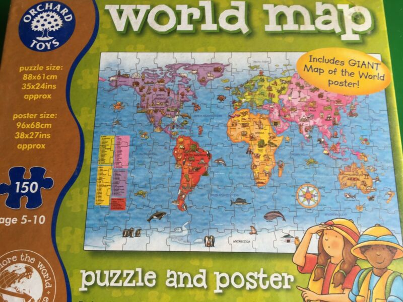World map puzzel and poster other books music games gumtree does not support puppy mills world map puzzel and poster gumiabroncs Choice Image