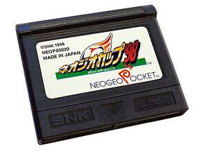 NEW SNK Neogeo Pocket Game NEO GEO CUP '98 FOOTBALL Loose Cartridge USA UK JP