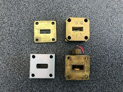 Lot Of 4 Microwave Rf Waveguide Wr42 Flange Adapter 18-26.5ghz