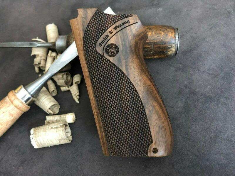Smith & Wesson 5906, 5903, 4003, 4006, 4046 Turkish Walnut Grips. Handmade. USA