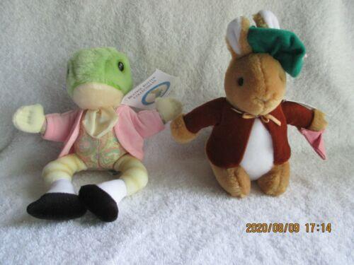 Vintage Eden Beatrix Potter Jeremy Fisher Frog & Bunny Plush Toy Animal New