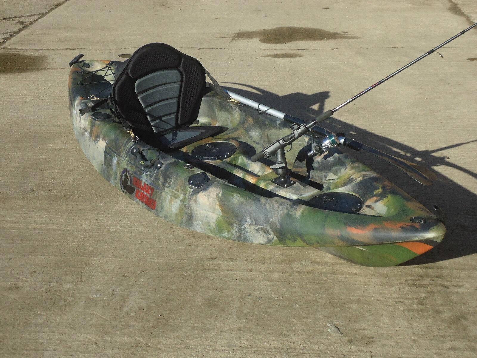 Sit on top fishing kayak galaxy cruz new model with free for Best sit in fishing kayak