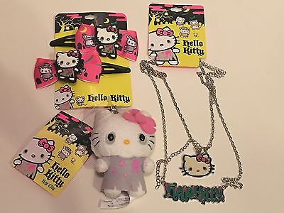 Hello Kitty NEW Zombie Plush Keychain Figure Necklace Barrettes RARE Lot Toy