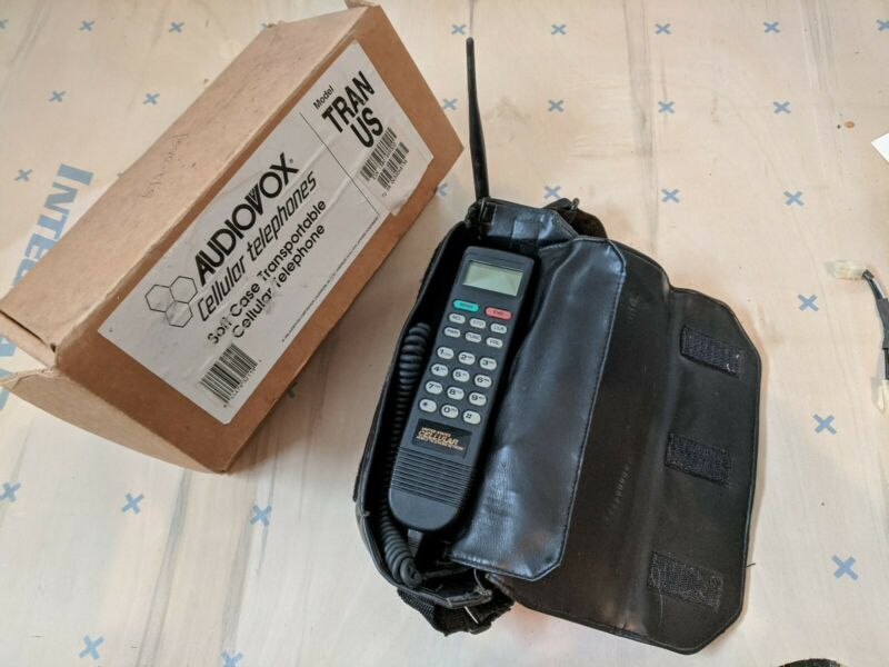 Vintage Collectible Audiovox Bag Mobile Phone - US Cell + Antenna