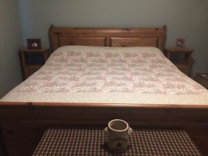 King Sleigh Pine Bedroom Suite For Sale