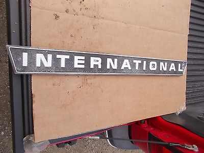 International 656 Rc Utility Tractor Original Ih Ihc Front Chrome Hood Emblem