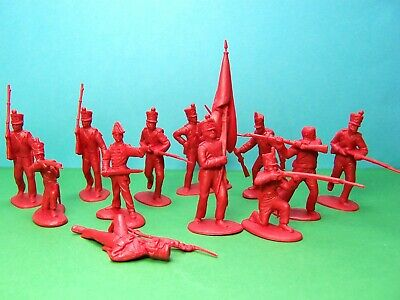CTS 1/32 scale Napoleonic Infantry 1st series x12 (red)  for sale  Shipping to Ireland