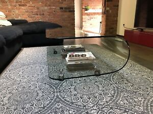 Table café en vitre/Glass coffee table