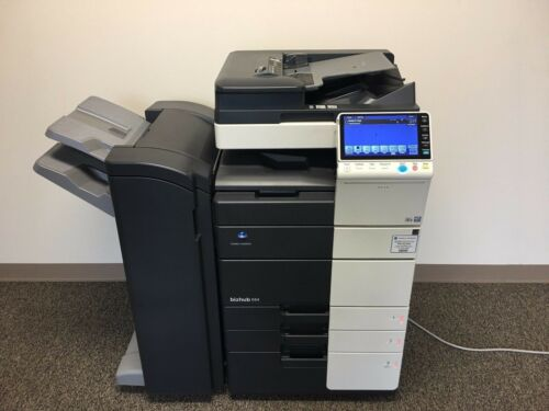 Konica Minolta Bizhub 554e Black & White Copier Printer Scanner Low 260k Total !