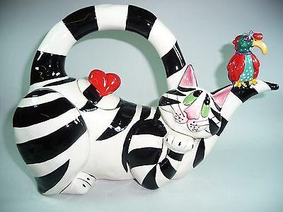Design Kaffeekanne Teekanne Kanne Katze Herz