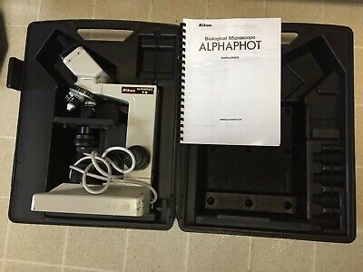 Nikon Alphaphot Ys Biological Microscope 4x1040x Objectives - Case - Discount