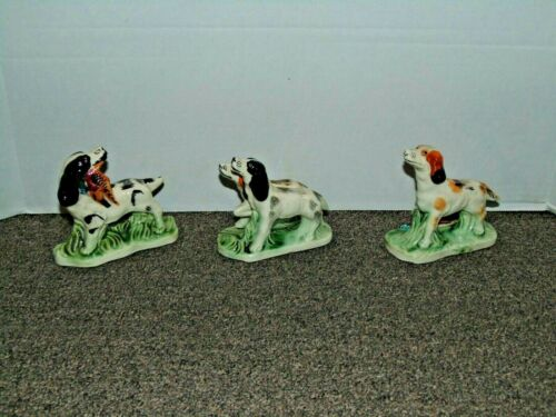 VTG PIONEER MOSE CO. NY Hunting dogs figurine, Japan