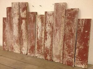 10 Reclaimed Idaho Barn Wood Boards 22 034 Red White Old ...