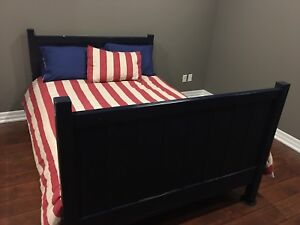 Pottery barn Dark Blue Double Bed