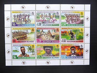 SOLOMON ISLANDS Wholesale Melanesian Trade Sheetlet of 9 x 50 U/M FP1117