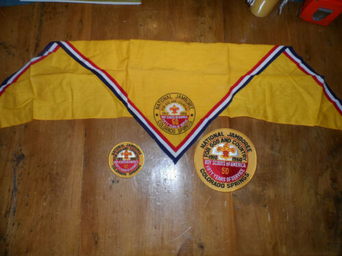 1960 BOY SCOUT NATIONAL JAMBOREE PATCHES and NECKERCHIEF