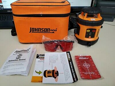 Johnson Level 40-6515 Self Leveling Rotary Laser Kit Testedworking - Free Ship