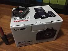 Canon 750D EOS DSLR Camera NEW (Single Lens Kit + Extras) Meadow Heights Hume Area Preview