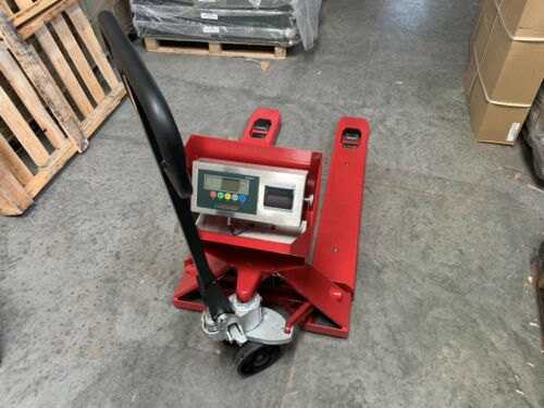 5 Year Warranty Pallet Jack Scale with Built-in PRINTER 5,000 x 1 lb Capacity